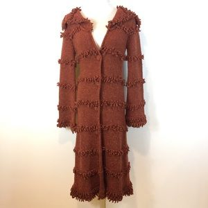 Plenty by Tracy Reese Wool Blend Trench Cardigan